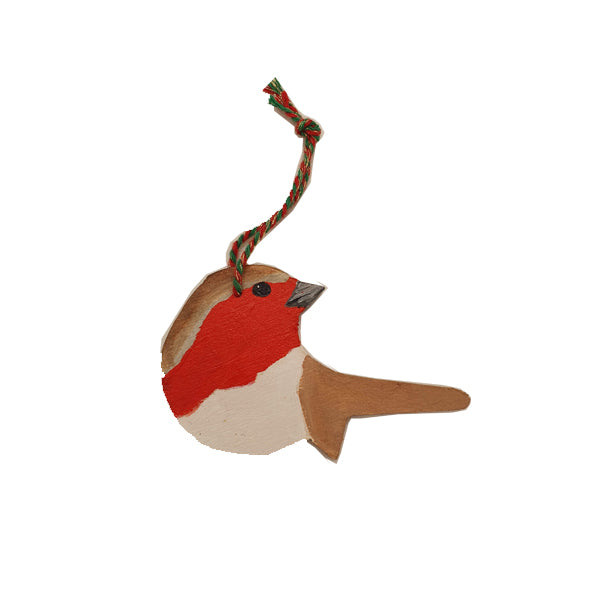 Handmade robin tree decoration