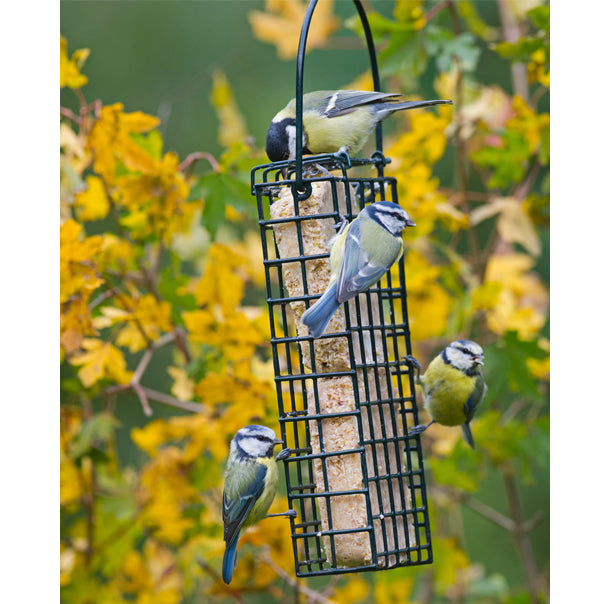 Side opening suet feeder