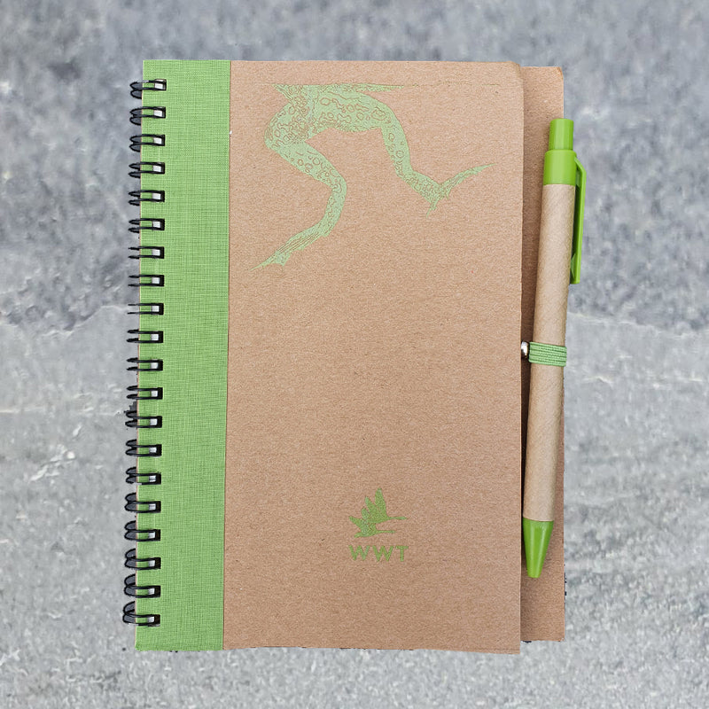 Frog recycled notebook (A5)  and pen