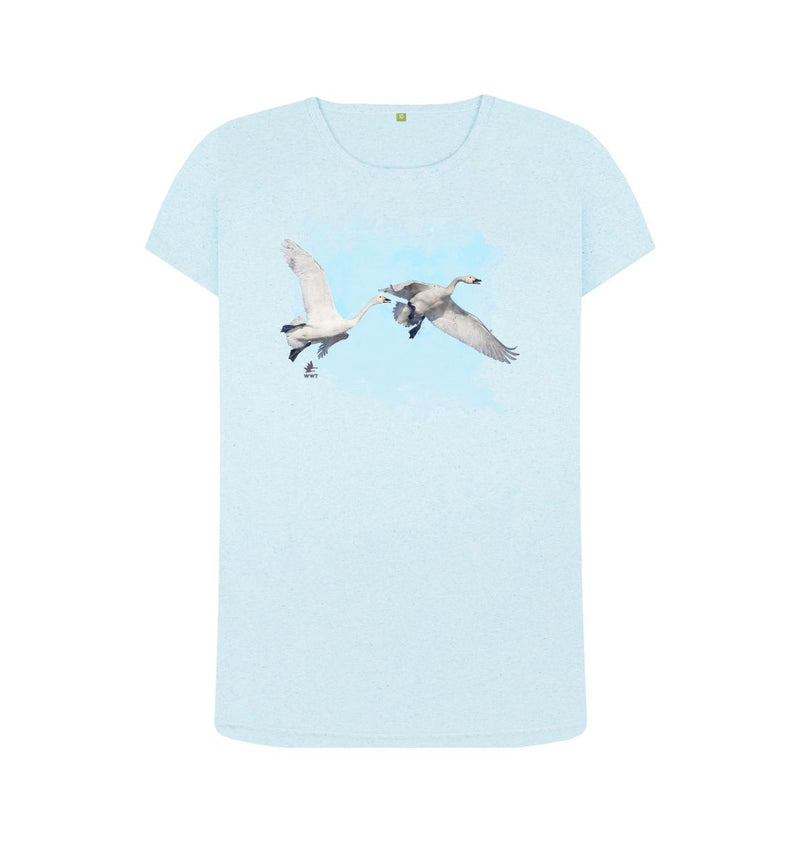 Light Blue Women's Bewick's Swan t-shirt