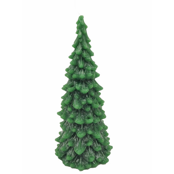 Green Christmas tree candle - large