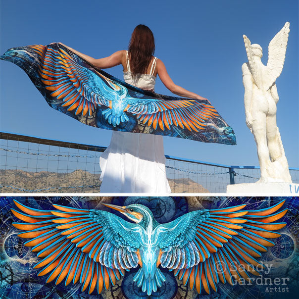 Kingfisher Artwear Scarf