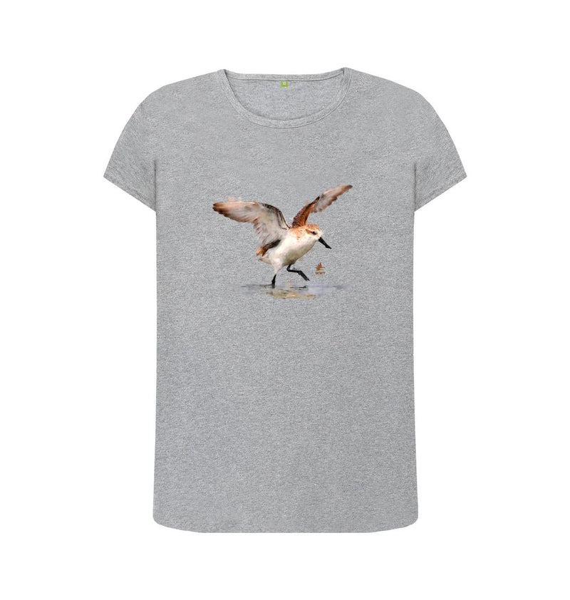 Athletic Grey Women's Spoon-billed Sandpiper t-shirt