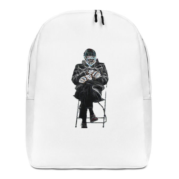 Bernie Sanders - Minimalist Backpack - Humans are FREE T-Shirts. Anti establishment T-Shirts. Cov-19, NWO, Celebrity, Funny, Crazy & Alternative T-Shirts for men and women