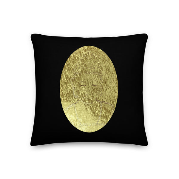 Sleeping Buddha (The Dream Collection) - Premium Pillow - Humans are FREE T-Shirts. Anti establishment T-Shirts. Cov-19, NWO, Celebrity, Funny, Crazy & Alternative T-Shirts for men and women