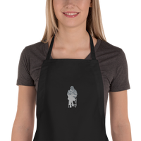 Bernie Sanders - Embroidered Apron - Humans are FREE T-Shirts. Anti establishment T-Shirts. Cov-19, NWO, Celebrity, Funny, Crazy & Alternative T-Shirts for men and women