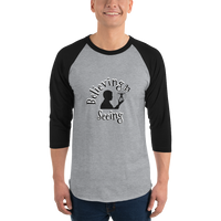 Believing is seeing (physics) - 3/4 sleeve raglan Men's Shirt - Humans are FREE T-Shirts. Anti establishment T-Shirts. Cov-19, NWO, Celebrity, Funny, Crazy & Alternative T-Shirts for men and