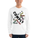 Do Not Comply - Men's long-sleeve shirt - Humans are FREE T-Shirts. Anti establishment T-Shirts. Cov-19, NWO, Celebrity, Funny, Crazy & Alternative T-Shirts for men and women