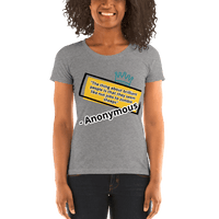 Anonymous Quote - Women's T-Shirt - Humans are FREE T-Shirts. Anti establishment T-Shirts. Cov-19, NWO, Celebrity, Funny, Crazy & Alternative T-Shirts for men and women