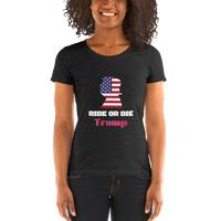 Ride or Die Trump Patriot - Women's T-Shirt - Humans are FREE T-Shirts. Anti establishment T-Shirts. Cov-19, NWO, Celebrity, Funny, Crazy & Alternative T-Shirts for men and women