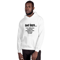 God Says (mainstream media is truth) - Men's Hoodie - Humans are FREE T-Shirts. Anti establishment T-Shirts. Cov-19, NWO, Celebrity, Funny, Crazy & Alternative T-Shirts for men and women