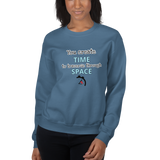 You create time to traverse through space (physics) - Women's Sweatshirt - Humans are FREE T-Shirts. Anti establishment T-Shirts. Cov-19, NWO, Celebrity, Funny, Crazy & Alternative T-Shirts f