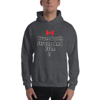 True North Strong And Free? - Men's Hoodie - Humans are FREE T-Shirts. Anti establishment T-Shirts. Cov-19, NWO, Celebrity, Funny, Crazy & Alternative T-Shirts for men and women