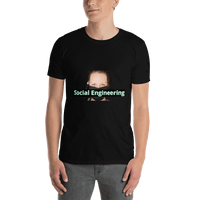 Social Engineering Cov-19 - Men's T-Shirt - Humans are FREE T-Shirts. Anti establishment T-Shirts. Cov-19, NWO, Celebrity, Funny, Crazy & Alternative T-Shirts for men and women