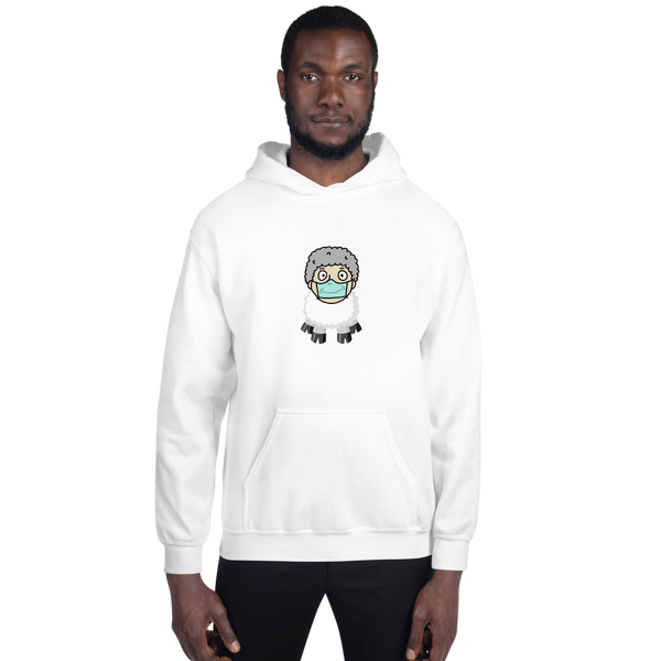 Sheep Man - Men's Hoodie - Humans are FREE T-Shirts. Anti establishment T-Shirts. Cov-19, NWO, Celebrity, Funny, Crazy & Alternative T-Shirts for men and women