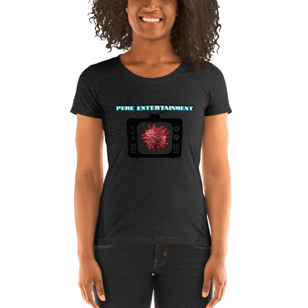 Cov-19 as Entertainment - Women's T-Shirt - Humans are FREE T-Shirts. Anti establishment T-Shirts. Cov-19, NWO, Celebrity, Funny, Crazy & Alternative T-Shirts for men and women