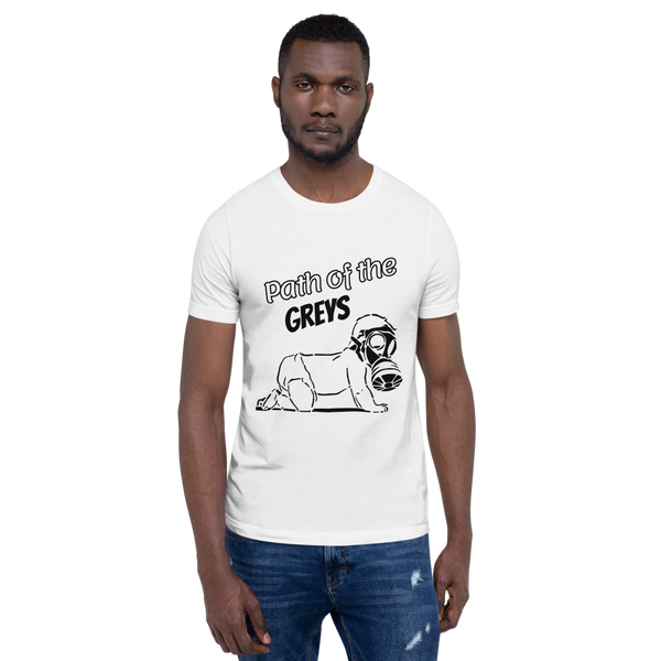 Path of the Greys - Men's T-Shirt - Humans are FREE T-Shirts. Anti establishment T-Shirts. Cov-19, NWO, Celebrity, Funny, Crazy & Alternative T-Shirts for men and women