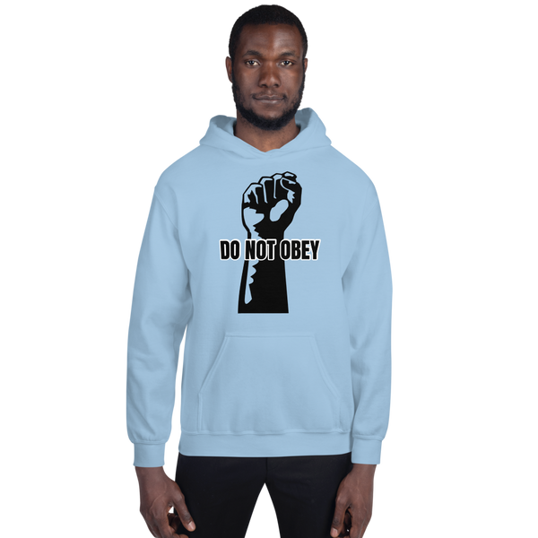 Do Not Obey - Men's Hoodie - Humans are FREE T-Shirts. Anti establishment T-Shirts. Cov-19, NWO, Celebrity, Funny, Crazy & Alternative T-Shirts for men and women