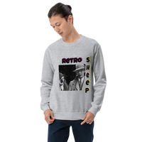 Retro Sheep - Men's Sweatshirt - Humans are FREE T-Shirts. Anti establishment T-Shirts. Cov-19, NWO, Celebrity, Funny, Crazy & Alternative T-Shirts for men and women