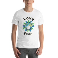 Choose Love not Fear - Men's t-shirt - Humans are FREE T-Shirts. Anti establishment T-Shirts. Cov-19, NWO, Celebrity, Funny, Crazy & Alternative T-Shirts for men and women