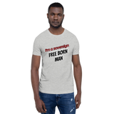 Sovereign Man - Men's T-Shirt - Humans are FREE T-Shirts. Anti establishment T-Shirts. Cov-19, NWO, Celebrity, Funny, Crazy & Alternative T-Shirts for men and women