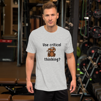 People are sheep (use critical thinking) - Men's T-Shirt - Humans are FREE T-Shirts. Anti establishment T-Shirts. Cov-19, NWO, Celebrity, Funny, Crazy & Alternative T-Shirts for men and women