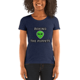 "Alien Behind the ""puppets"" - Women's T-Shirt - Humans are FREE T-Shirts. Anti establishment T-Shirts. Cov-19, NWO, Celebrity, Funny, Crazy & Alternative T-Shirts for men and women"
