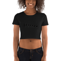 Woman to Sheep Cov-19 - Women's/Transexual Crop Tee - Humans are FREE T-Shirts. Anti establishment T-Shirts. Cov-19, NWO, Celebrity, Funny, Crazy & Alternative T-Shirts for men and women