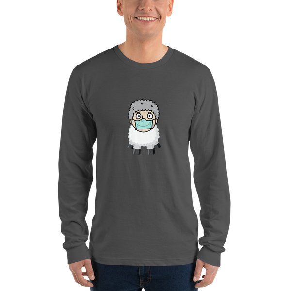 Sheep Man - Long sleeve Men's t-shirt - Humans are FREE T-Shirts. Anti establishment T-Shirts. Cov-19, NWO, Celebrity, Funny, Crazy & Alternative T-Shirts for men and women