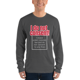 I do not consent to any FINES - Men's long sleeve t-shirt - Humans are FREE T-Shirts. Anti establishment T-Shirts. Cov-19, NWO, Celebrity, Funny, Crazy & Alternative T-Shirts for men and wome