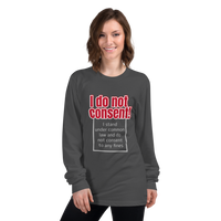 I do not consent to any FINES - Women's long sleeve t-shirt - Humans are FREE T-Shirts. Anti establishment T-Shirts. Cov-19, NWO, Celebrity, Funny, Crazy & Alternative T-Shirts for men and wo