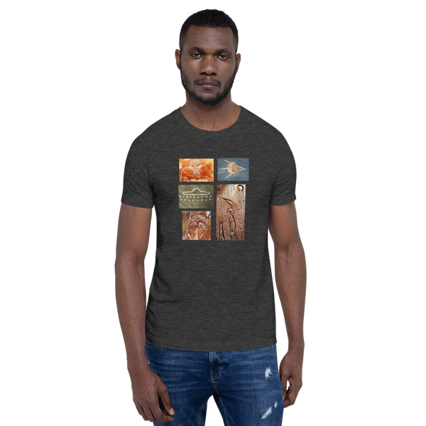 Ancient E.T/Alien Art - Men's T-Shirt - Humans are FREE T-Shirts. Anti establishment T-Shirts. Cov-19, NWO, Celebrity, Funny, Crazy & Alternative T-Shirts for men and women