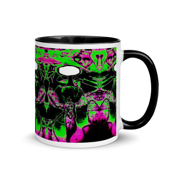 Acid Trip (The Dream Collection) - Mug with Color Inside - Humans are FREE T-Shirts. Anti establishment T-Shirts. Cov-19, NWO, Celebrity, Funny, Crazy & Alternative T-Shirts for men and women