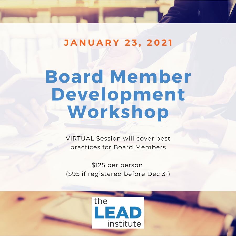 Board Member Development Workshop