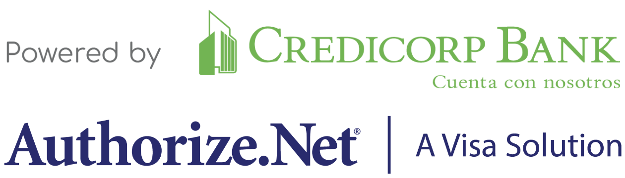 Powered by Credicorp Bank and Authorize.Net