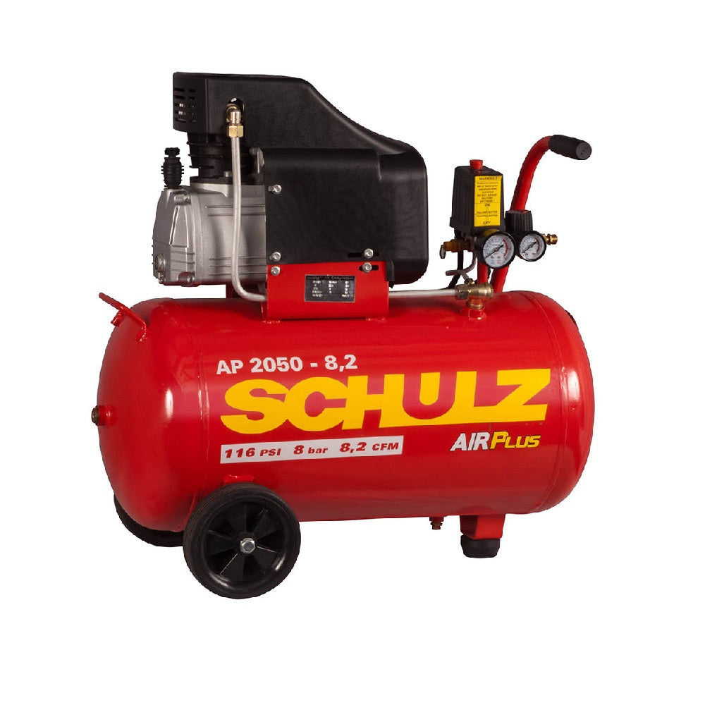 Compresor de Aire SCHULZ LÍnea Air Plus 8 pcm 2 hp 116 psi 50 l AP 2050