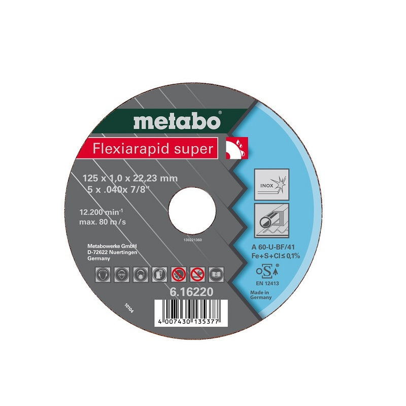 "Disco de Corte METABO (Flexiarapid Super) de 6"" (150 x 1.6 mm) INOX"