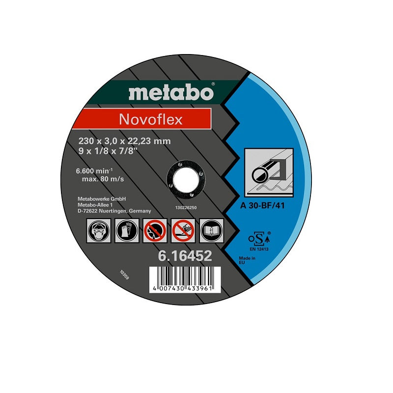 "Disco de Corte METABO (Novoflex) de 4-1/2"" (115 x 2.5 mm)"