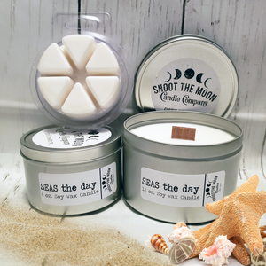 SEAS THE DAY Soy Wooden Wick Candles & Wax Melts