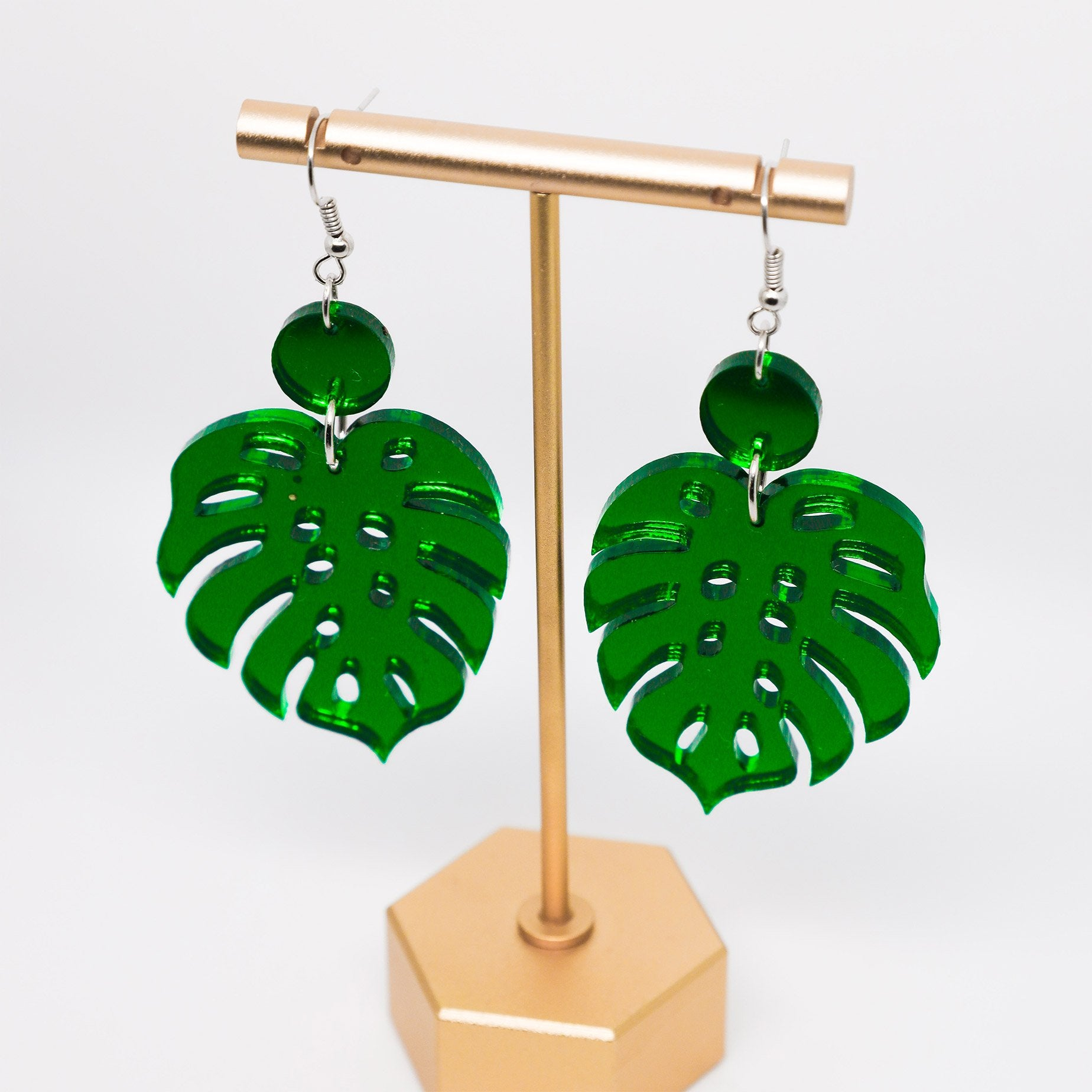Monstera Earrings