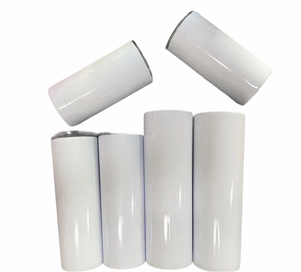 12 Pack 15oz Straight Sublimation Tumbler Cups With Shrink Wrap and Rubber Bottoms