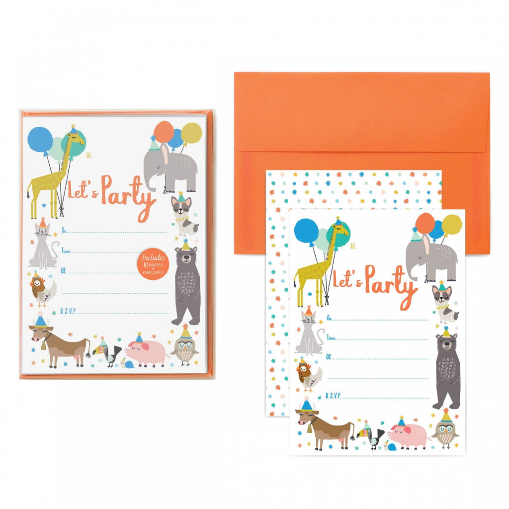 Party Animal Party Invitations
