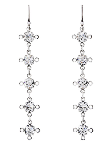 ManifiQ earrings in Swarovski Crystal - 5 drop