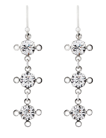 ManifiQ earrings in Swarovski Crystal- 3 drop
