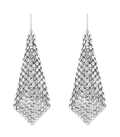Swarovski Crystal mesh earrings large