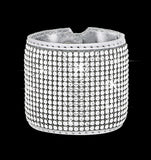 Swarovski Crystal Mesh Cuff on leather - 16 Rows