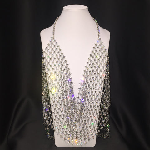 Swarovski Crystal Web Halter Top - Instagram Sale 1 Only