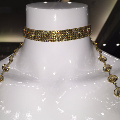 Swarovski Crystal Perfection Choker - Gold