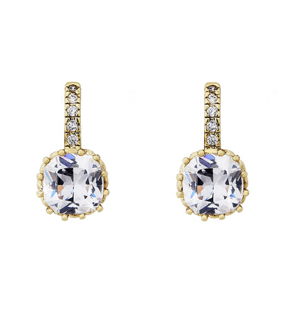 Swarovski crystal bella clear crystal on gold earring
