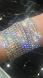 Multiple Stretch Bracelets -bunch of 15 Swarovski Crystal Bracelets